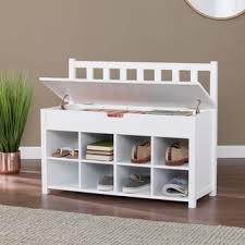 Winslow White Shoe Storage Cubbie Bench Harper Blvd Kelly White Entryway Bench With Shoe Storage Free