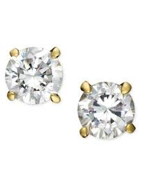 cubic zirconia earrings giani bernini 18k gold sterling silver cubic zirconia stud