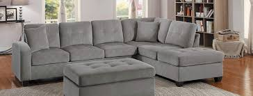 homelegance emilio reversible sectional sofa taupe fabric 8367tp