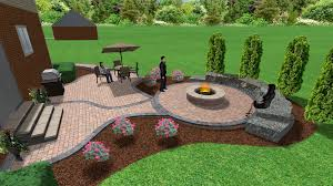 Fire Pit Ideas For Small Backyard by Brick Paver Patio And Fire Pit 3d Landscape Designs Pinterest