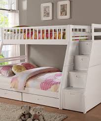 another great find on zulily white twin over full staircase bunk