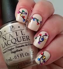 9 super festive christmas manicure ideas light nails opi and