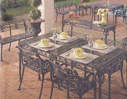 garden and patio furniture cast aluminum patio garden furniture