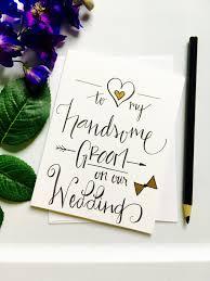 Card For Groom Card For Groom To My Groom On Our Wedding Wedding Card Wedding