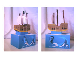 pirate ship moving paper toy by sinlei on deviantart