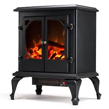 Portable Electric Fireplace Townsend Free Standing Electric Fireplace Stove 24 Inch Black