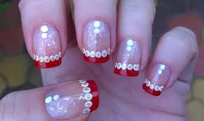 easy christmas nail art designs diy french manicure on short