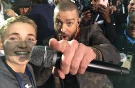 Superb Owl Meme - a kid that took a selfie with justin timberlake during his superbowl