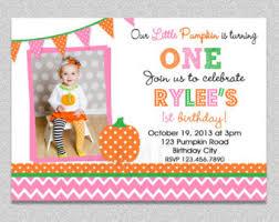 pumpkin birthday invitation pumpkin 1st birthday party