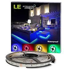 le better lighting experience le 12v flexible rgb led strip lights led tape multi colors 150