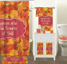 fall leaves shower curtain potty concepts