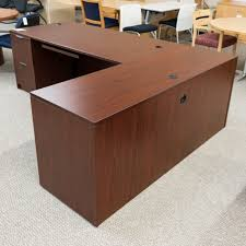 L Shape Office Desks Used Ofd L Shaped Office Desk With Return Mahogany Del1562