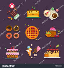 Types Of Home Designs Bakery Shop Types Homemade Sweets Cakes Stock Vector 296292812