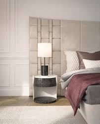 round solid wood bedside table with drawers datejust by capital