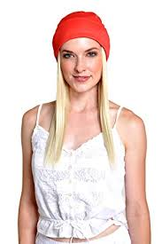 chemo hats with hair attached fashionable chemo beanies with hair comfy stretch fabric