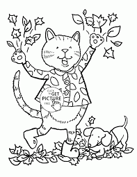 funny fall day coloring pages for kids fall leaves printables