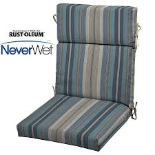 High Back Patio Chair Cushions Shop Allen Roth Stripe Blue Stripe Blue Stripe High Back Patio