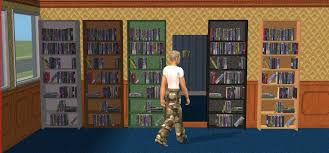Secret Door Bookcase Mod The Sims Secret Door Sliding Bookcase