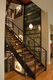 stairs wall decoration ideas staircase modern with pendant