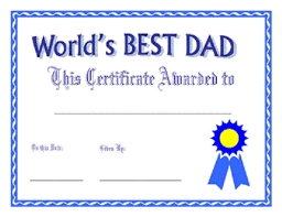 printable u0027s dad certificate father u0027s wishes