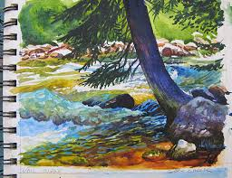 paint places gore creek i developing a large studio oil painting from