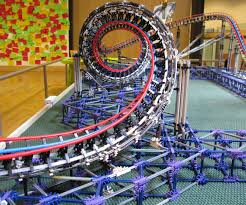 dragon fire k u0027nex model roller coaster roller coasters