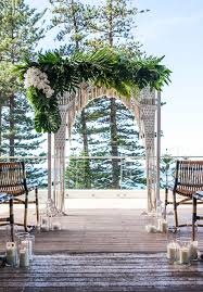 wedding arches sydney overlooking manly in sydney beachside wedding arch