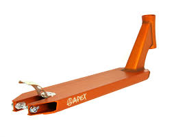 apex pro scooter deck orange the vault pro scooters