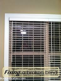 How To Fix Blinds String Budget Barbie Fixing A Broken Window Blind A Snapped String