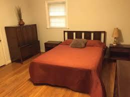mid century modern walnut bedroom suite by broyhill emphasis epoch