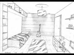 this video shows how to draw a room using one point perspective