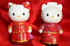 Amazon Com Hello Kitty And Daniel Wedding Cake Topper Set