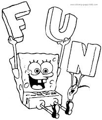 spongebob squarepants color coloring pages kids