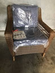 Wicker Patio Lounge Chairs Hton Bay Brown All Weather Wicker Patio Lounge
