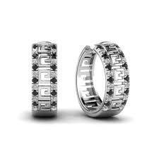white gold huggie earrings fascinating diamonds