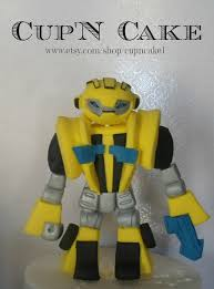bumblebee transformer cake topper transformers toppers items similar to transformers bumblebee fondant cake topper on etsy
