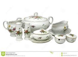 set of dishes portselyanovoy stock photo image 23351364