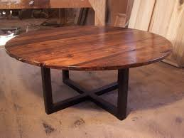 exciting round metal coffee table base with wooden and glass top