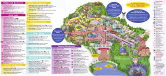 Florida Orlando Map by Disney U0027s Hollywood Studios Guidemaps