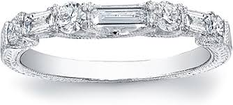 baguette diamond band vintage baguette diamond band fsl2444b