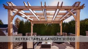 Outdoor Shades For Pergola by Pergola Retractable Canopy Outdoor Living Today Youtube