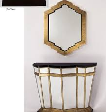 Gold Console Table Mirrored Gold Console Table Katzberry Home Decor