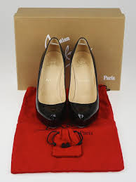 christian louboutin black patent leather rolando 120 pumps size