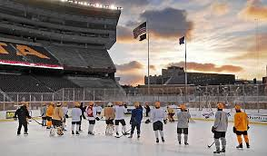 gophers hockey teams to put on a show at tcf bank stadium