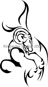 black aries symbol tattoo design
