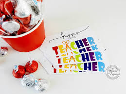 it u0027s written on the wall teacher appreciation gift kisses for