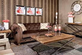 interiors canapé canapé chesterfield en tissu 2 places marron chessy