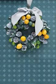 Christmas Decorations From Your Garden by Lemon And Lime Wreath Christmas Decorating Ideas Houseandgarden