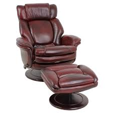 armchair design furniture awesome brown leather modern recliners with ottoman for