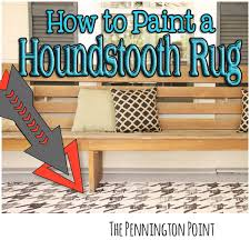 how to paint a houndstooth rug